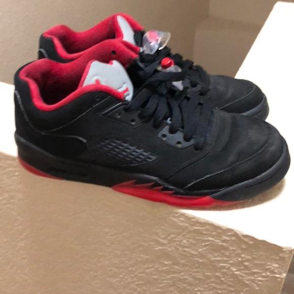 jordan retro 5 black and red